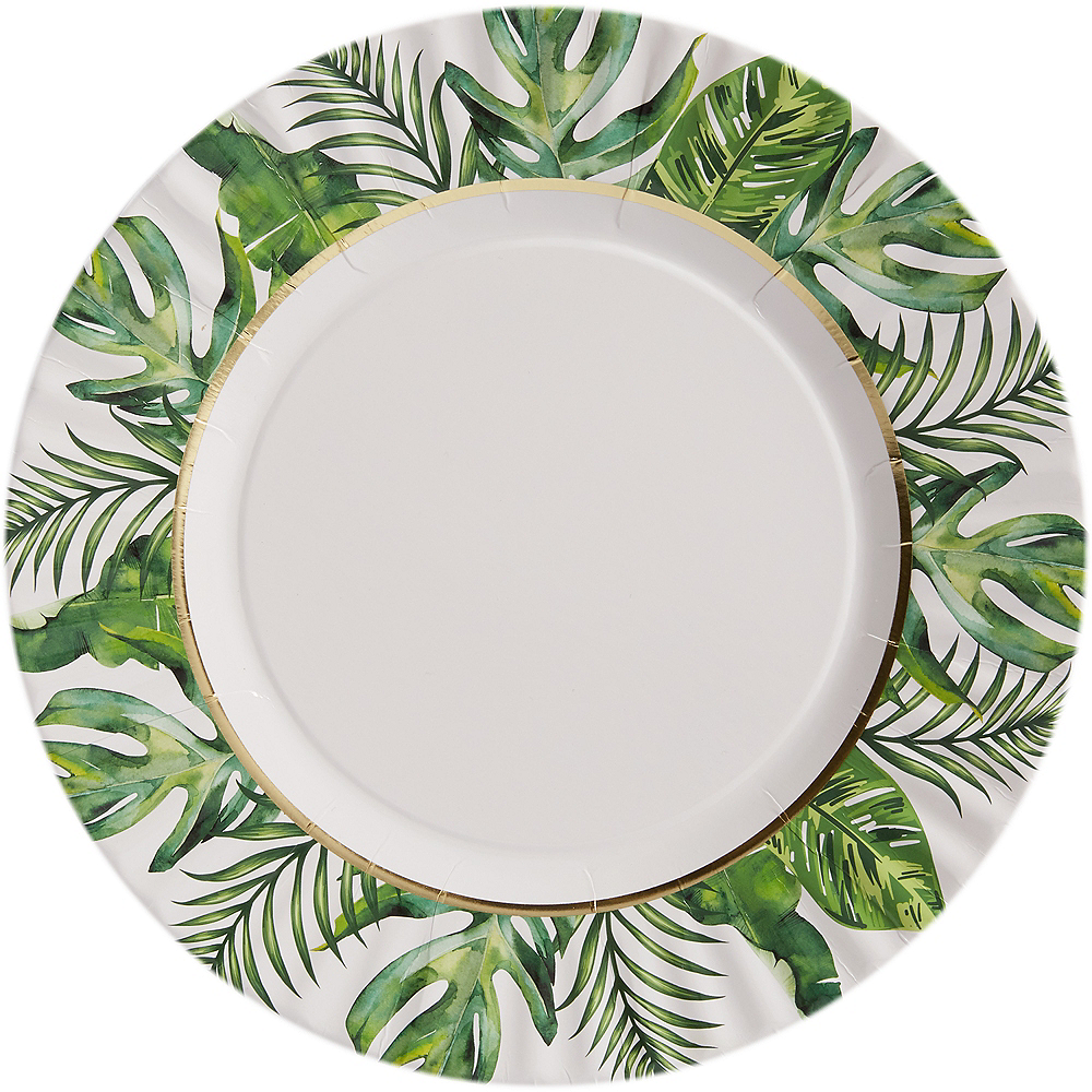 Tropical Wedding Dinner Plates 8ct Image #1