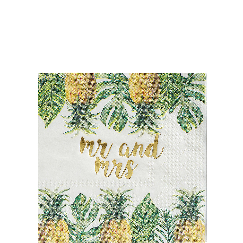 Tropical Wedding Beverage Napkins 16ct Image #1