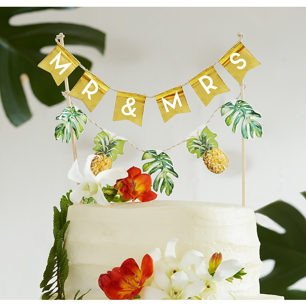 Nav Item for Tropical Wedding Cake Bunting Image #1