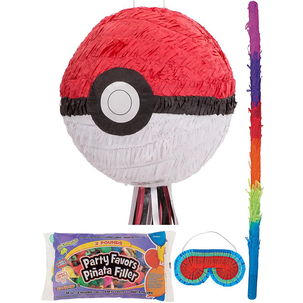 Pokeball Pinata Kit with Candy & Favors - Pokemon Image #1