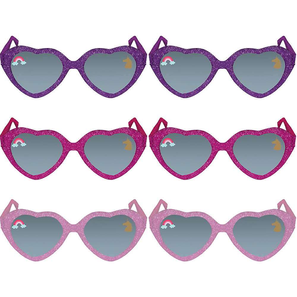 Glitter Magical Unicorn Sunglasses 6ct Image #1