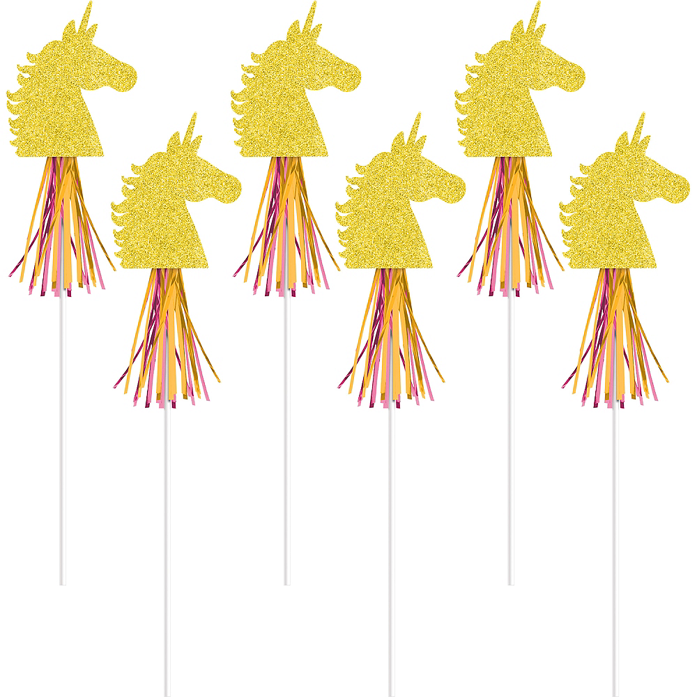 Nav Item for Glitter Magical Unicorn Wands 6ct Image #1