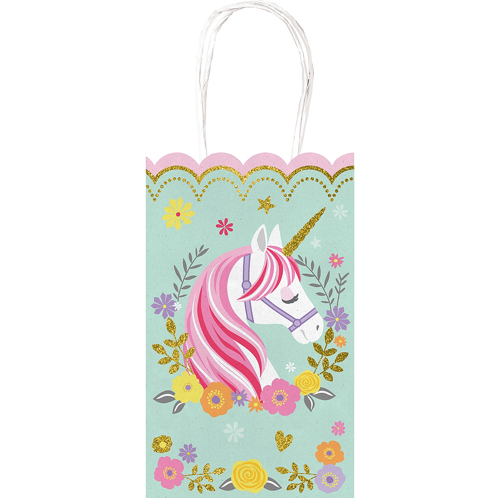Magical Unicorn Kraft Bags 10ct Party City