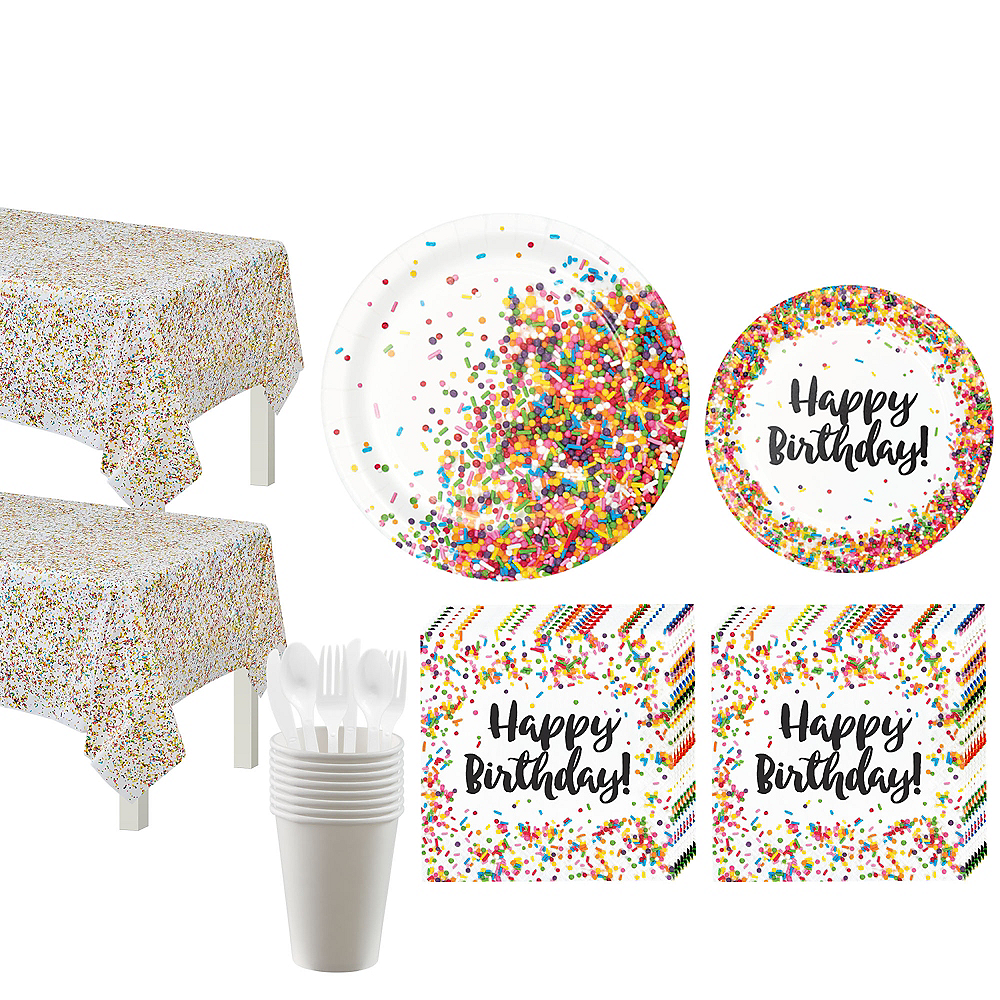 Rainbow Sprinkles Tableware Kit for 16 Guests Image #1