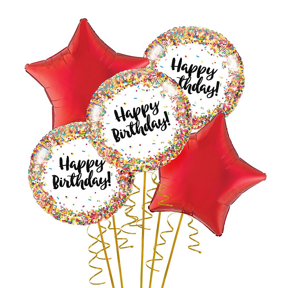 Rainbow Sprinkles Balloon Bouquet Image #1