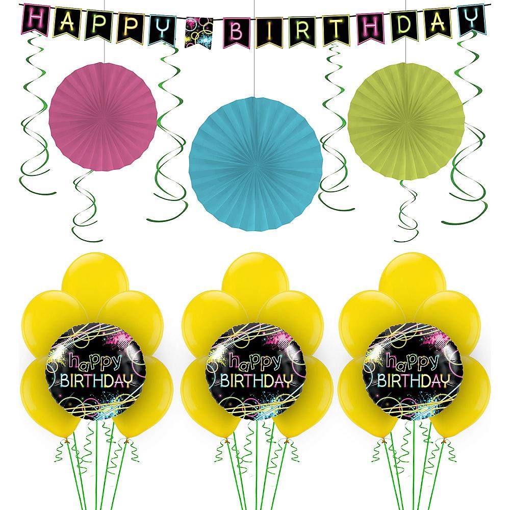 Neon Party Balloon Kit Image #1