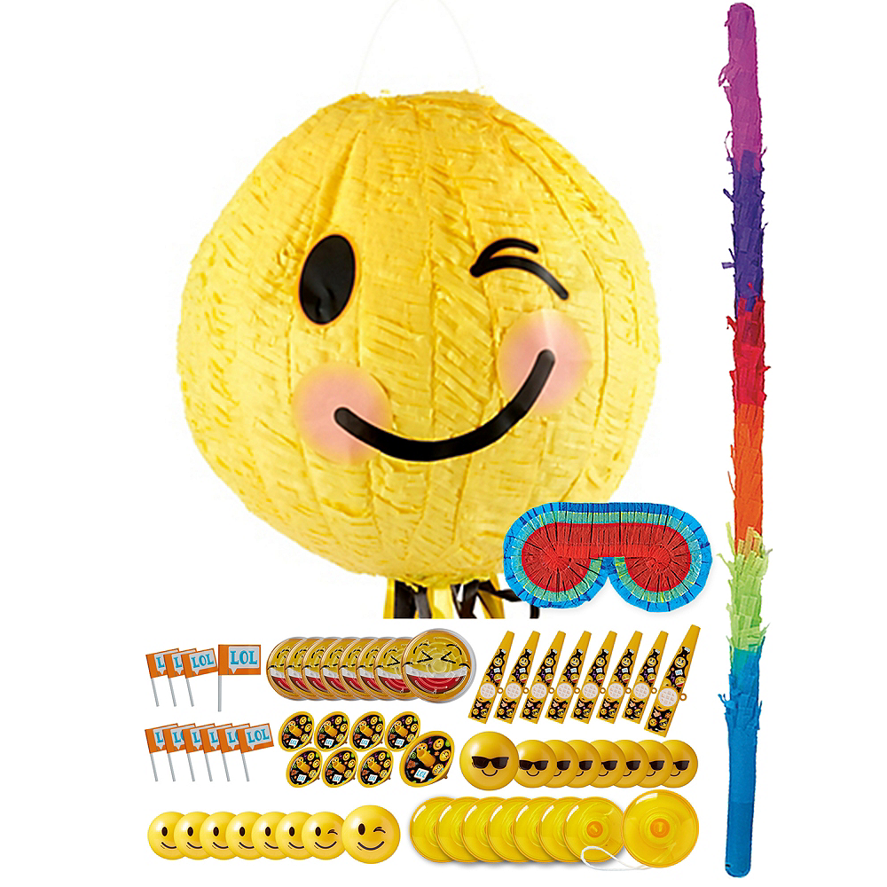 Winking Smiley Pinata Kit with Favors Image #1