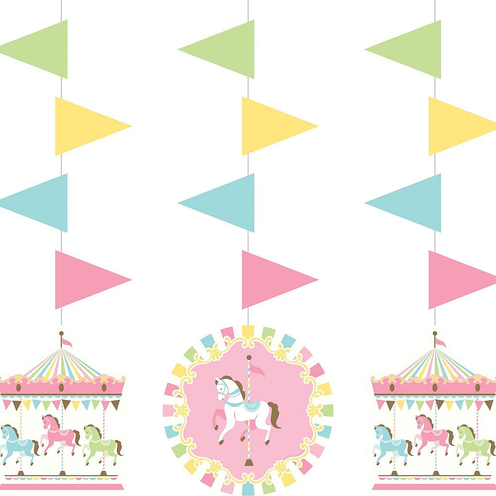 Pink Carousel Baby Shower Decorating Kit Image #2