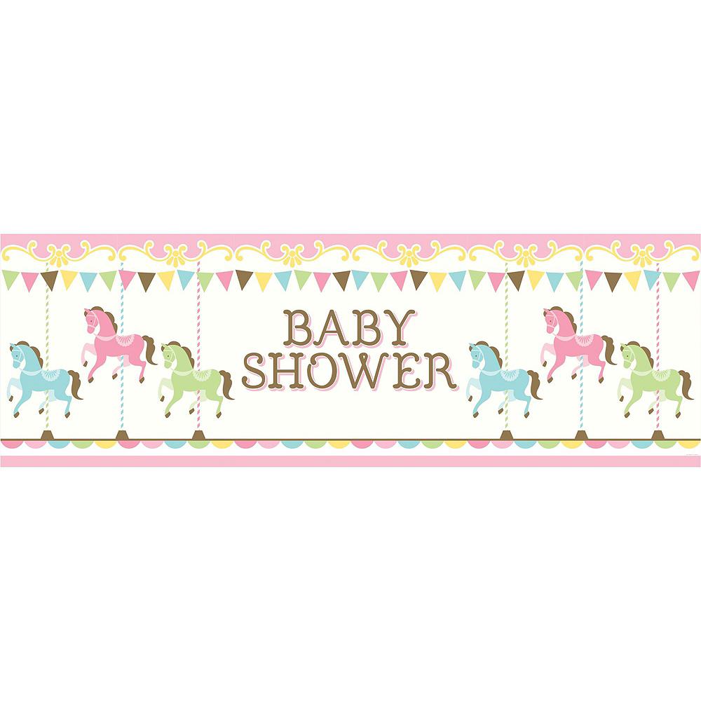 Pink Carousel Baby Shower Decorating Kit Image #4