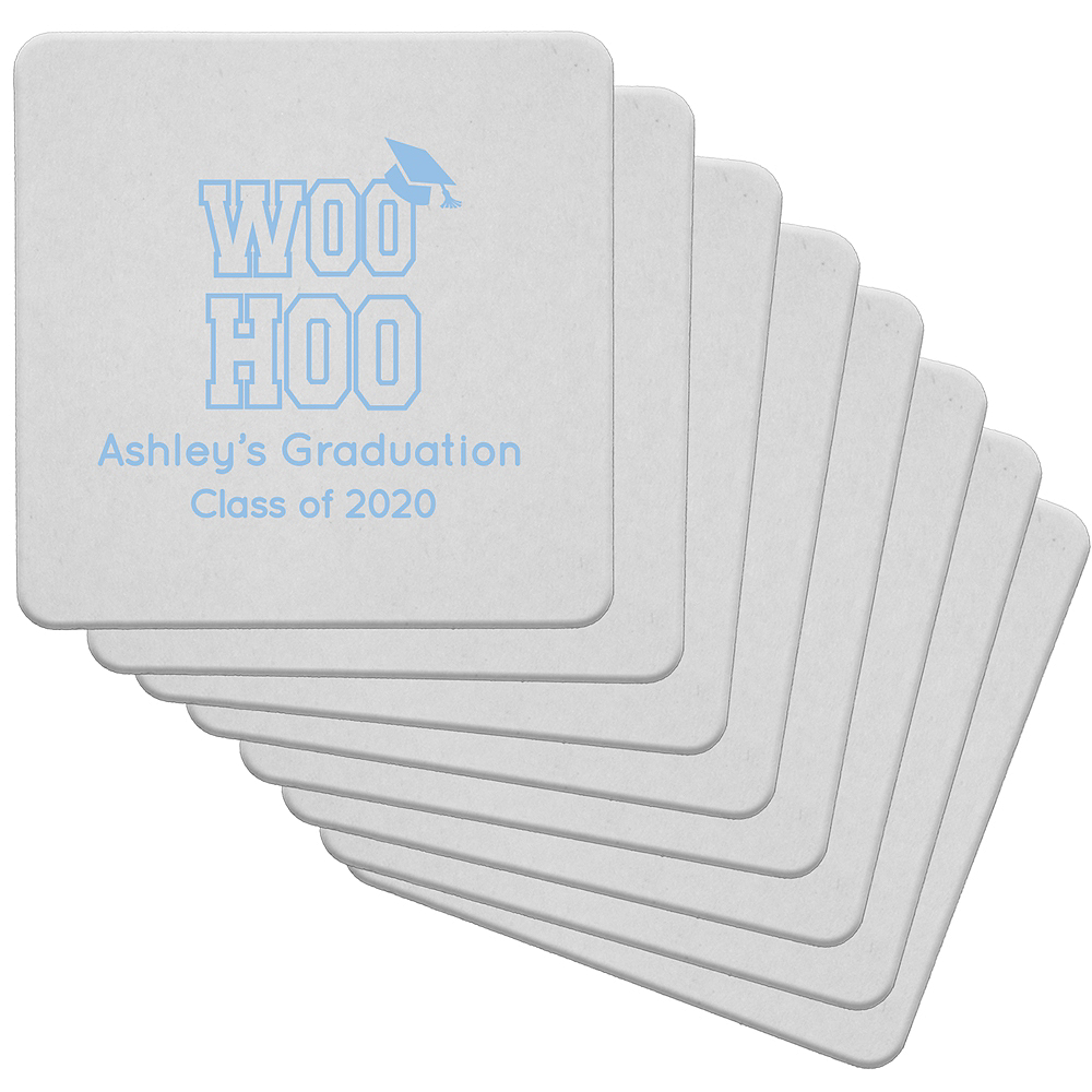 Personalized Graduation 80pt Square Coasters Image #1