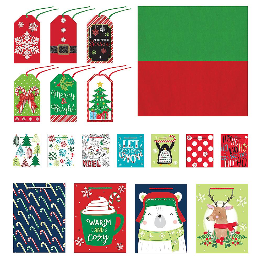 Traditional Christmas Gift Bag Kit Image #1