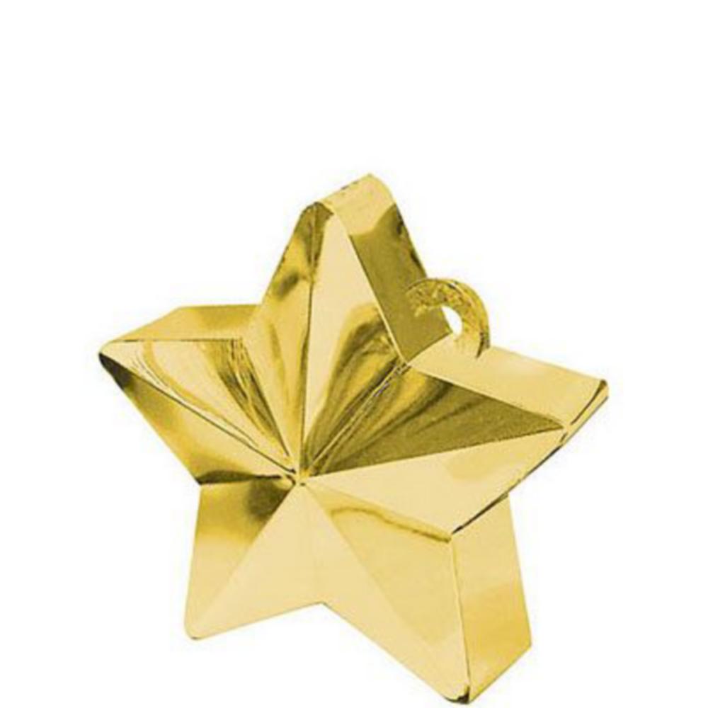 White & Gold Happy Birthday Balloon Kit Image #2
