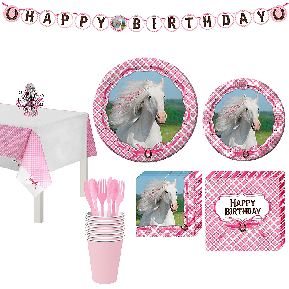 Heart My Horse Tableware Party Kit for 8 Guests Image #1
