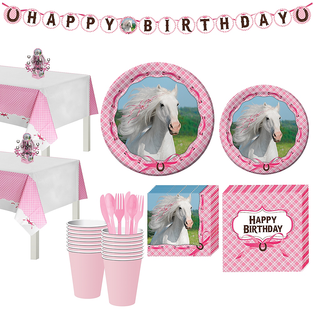 Heart My Horse Tableware Party Kit for 16 Guests | Party City