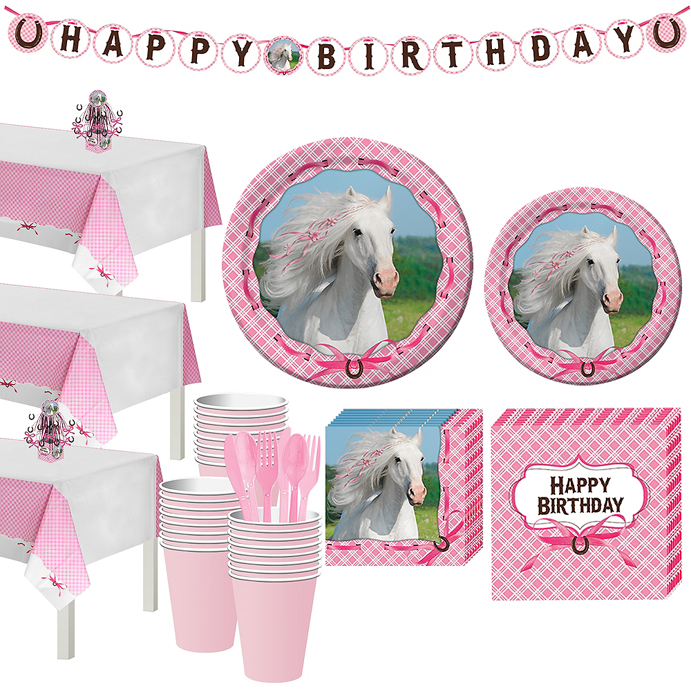 Heart My Horse Tableware Party Kit for 24 Guests Image #1