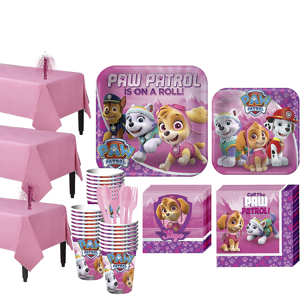 Pink PAW Patrol  Tableware Party Kit for 24 Guests Image #1