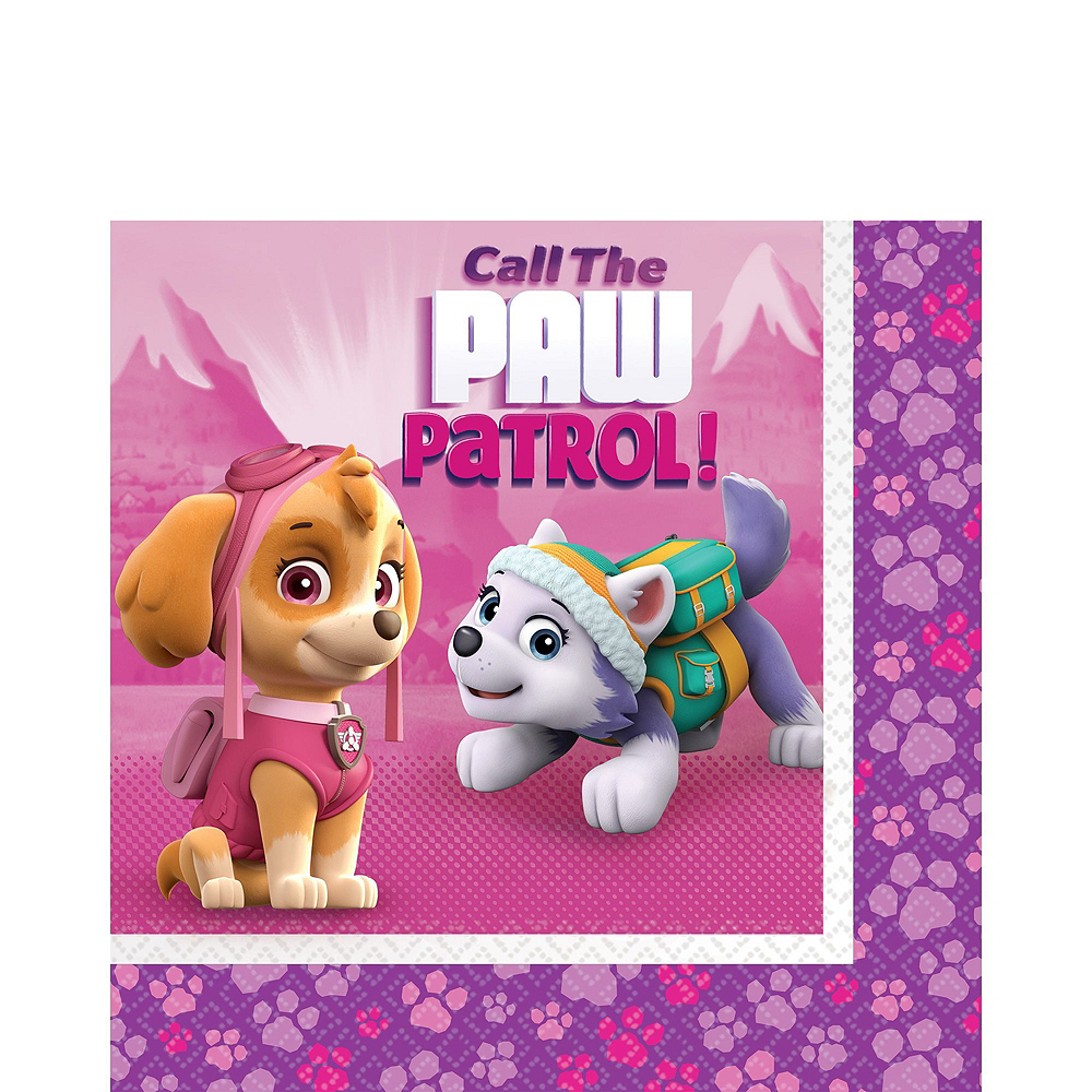 Pink PAW Patrol  Tableware Party Kit for 24 Guests Image #5