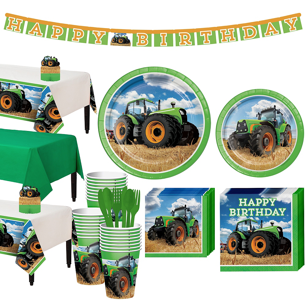 Tractor Tableware Party Kit for 24 Guests Image #1