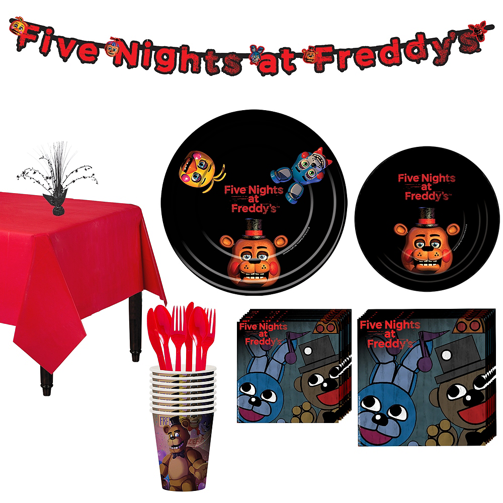 Five Nights at Freddy's Tableware Party Kit for 8 Guests Image #1