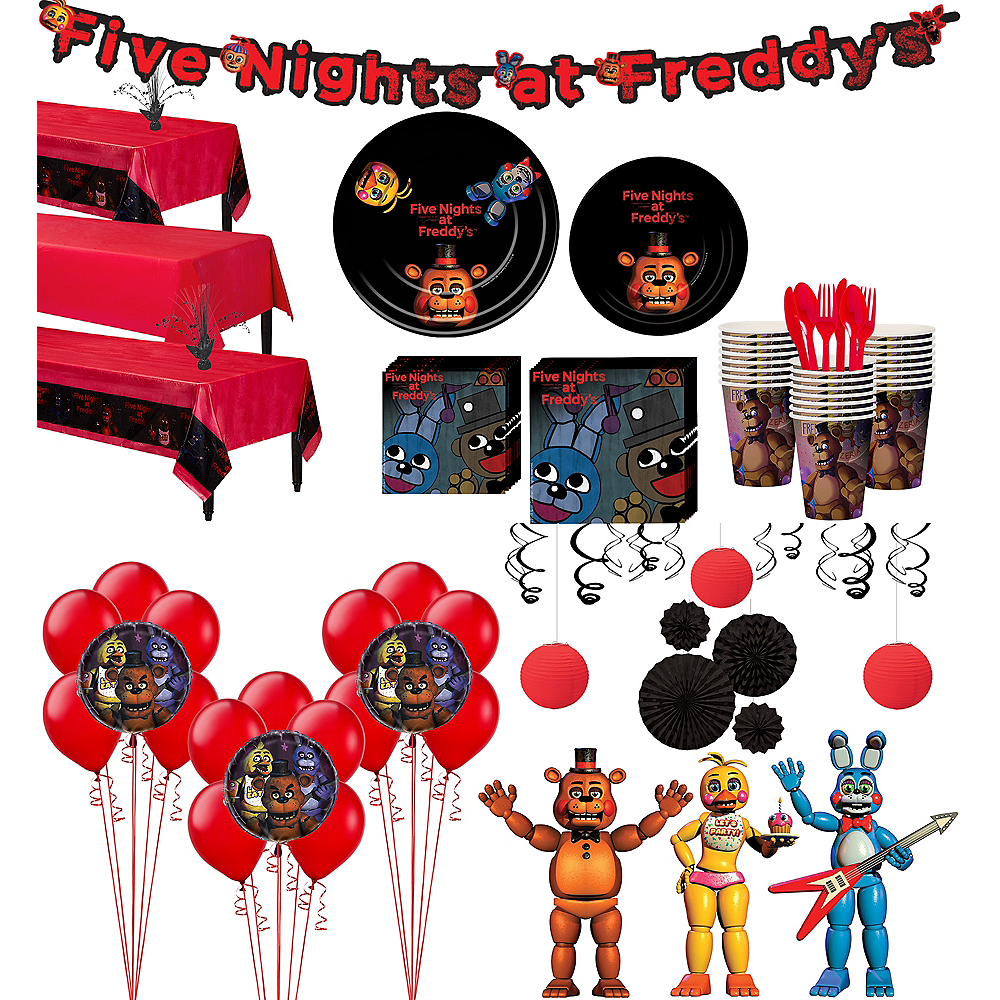 Five Nights At Freddys Tableware Ultimate Kit For 24 Guests Image