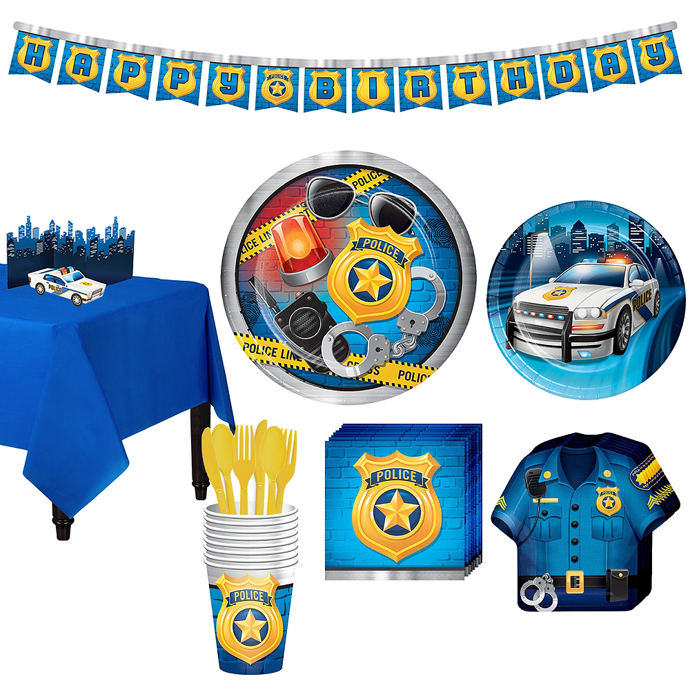 Police Tableware Party Kit for 8 Guests Image #1