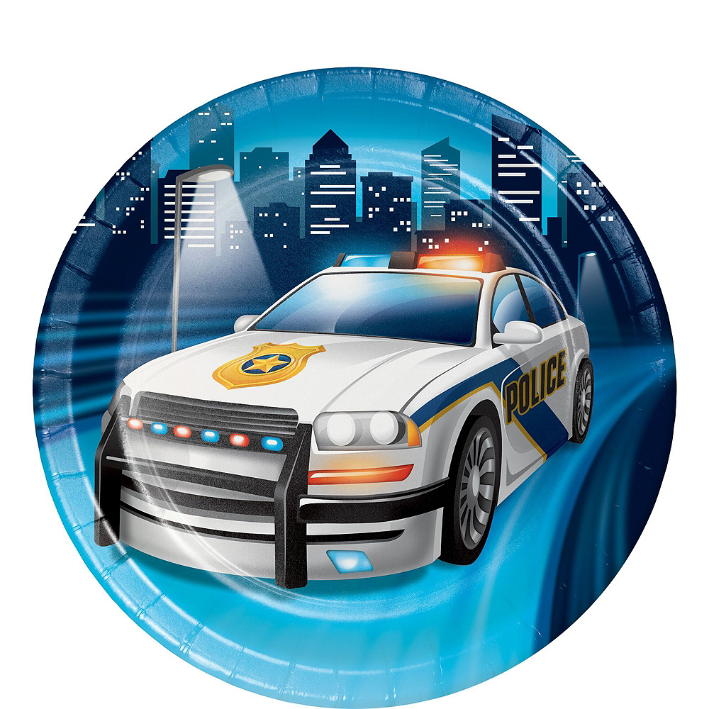Police Tableware Party Kit for 8 Guests Image #2