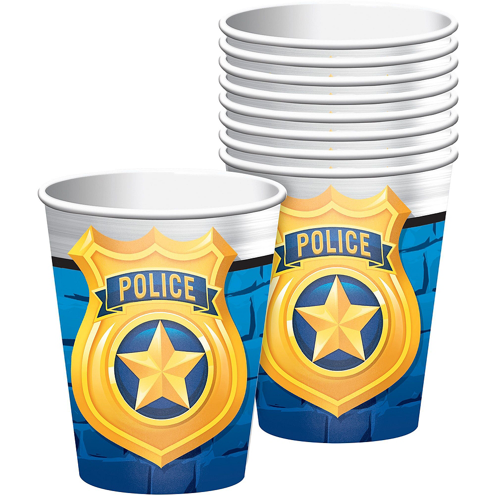 Police Tableware Party Kit for 16 Guests Image #6