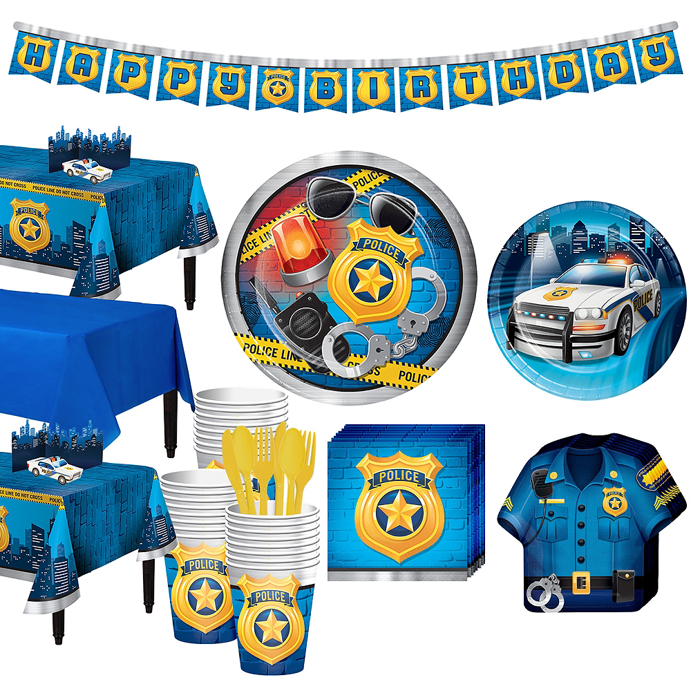 Police Tableware Party Kit for 24 Guests Image #1