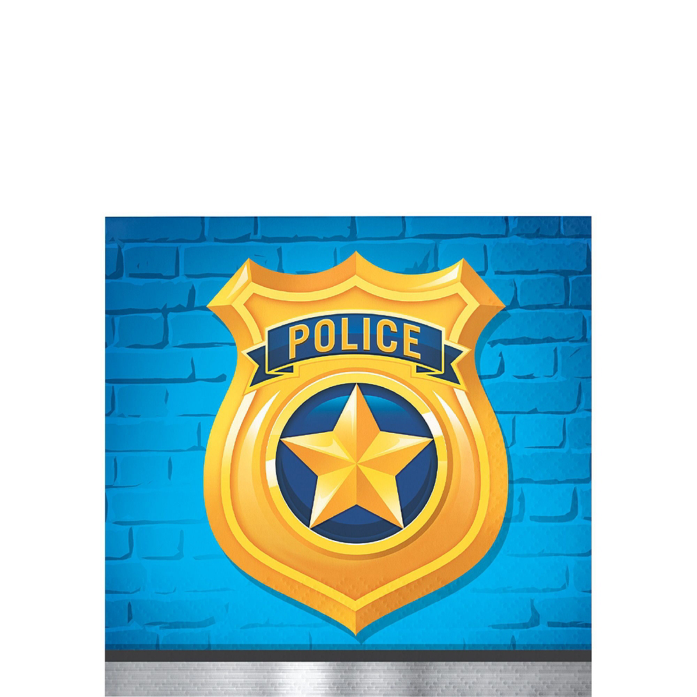 Police Tableware Party Kit for 24 Guests Image #5
