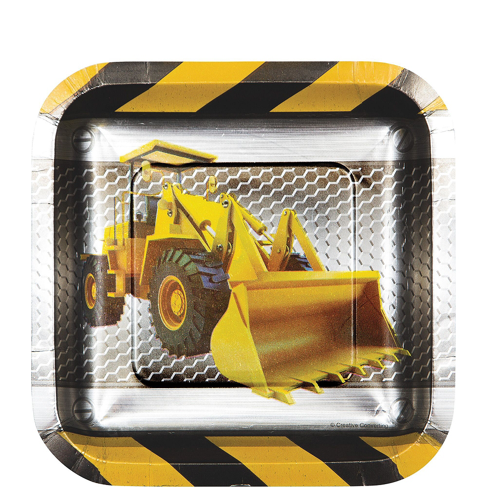 Construction Zone Tableware Party Kit for 16 Guests Image #2