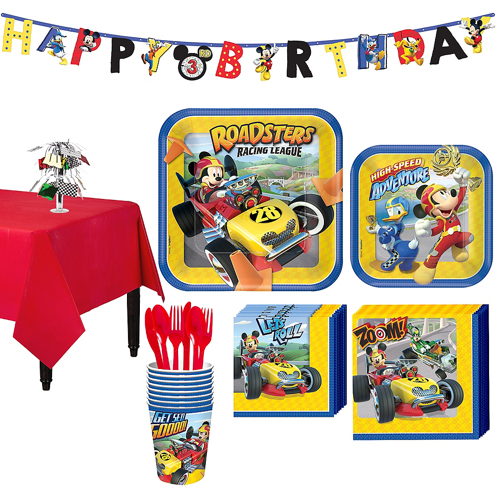 Mickey Mouse Roadster Tableware Party Kit for 8 Guests Image #1