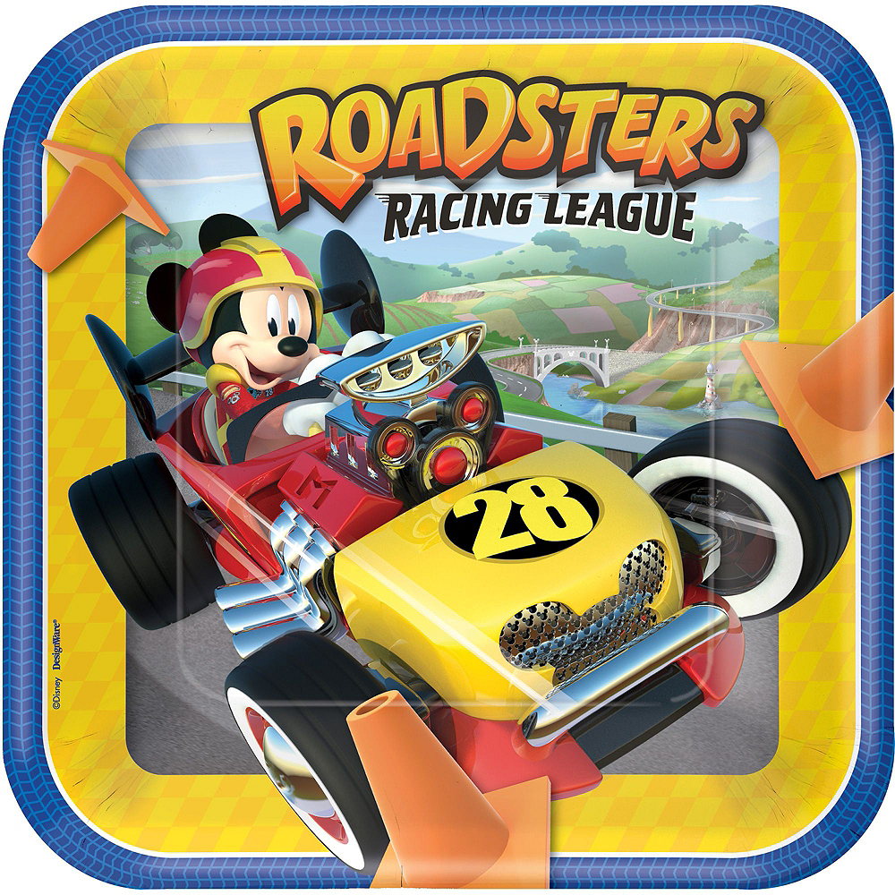 Mickey Mouse Roadster Tableware Party Kit for 16 Guests Image #3