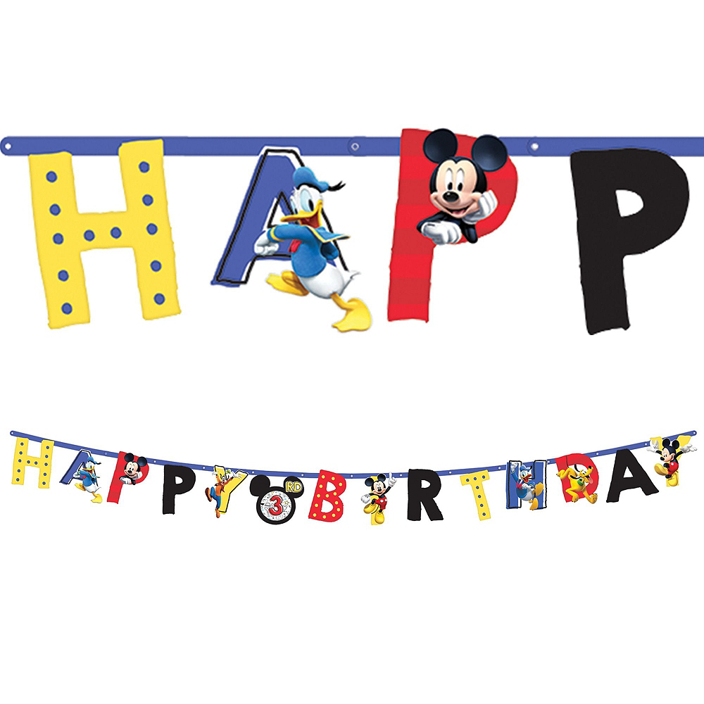 Mickey Mouse Roadster Tableware Party Kit for 16 Guests Image #10