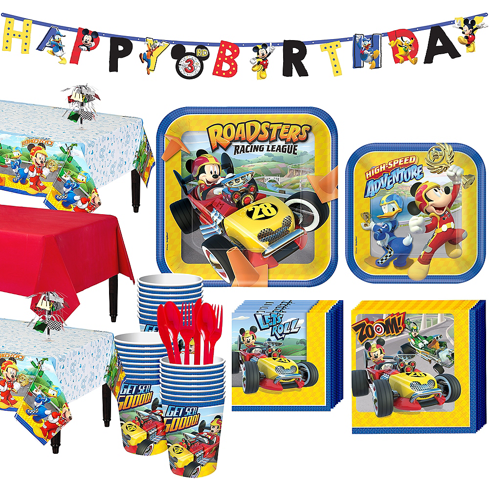 Mickey Mouse Roadster Tableware Party Kit for 24 Guests Image #1