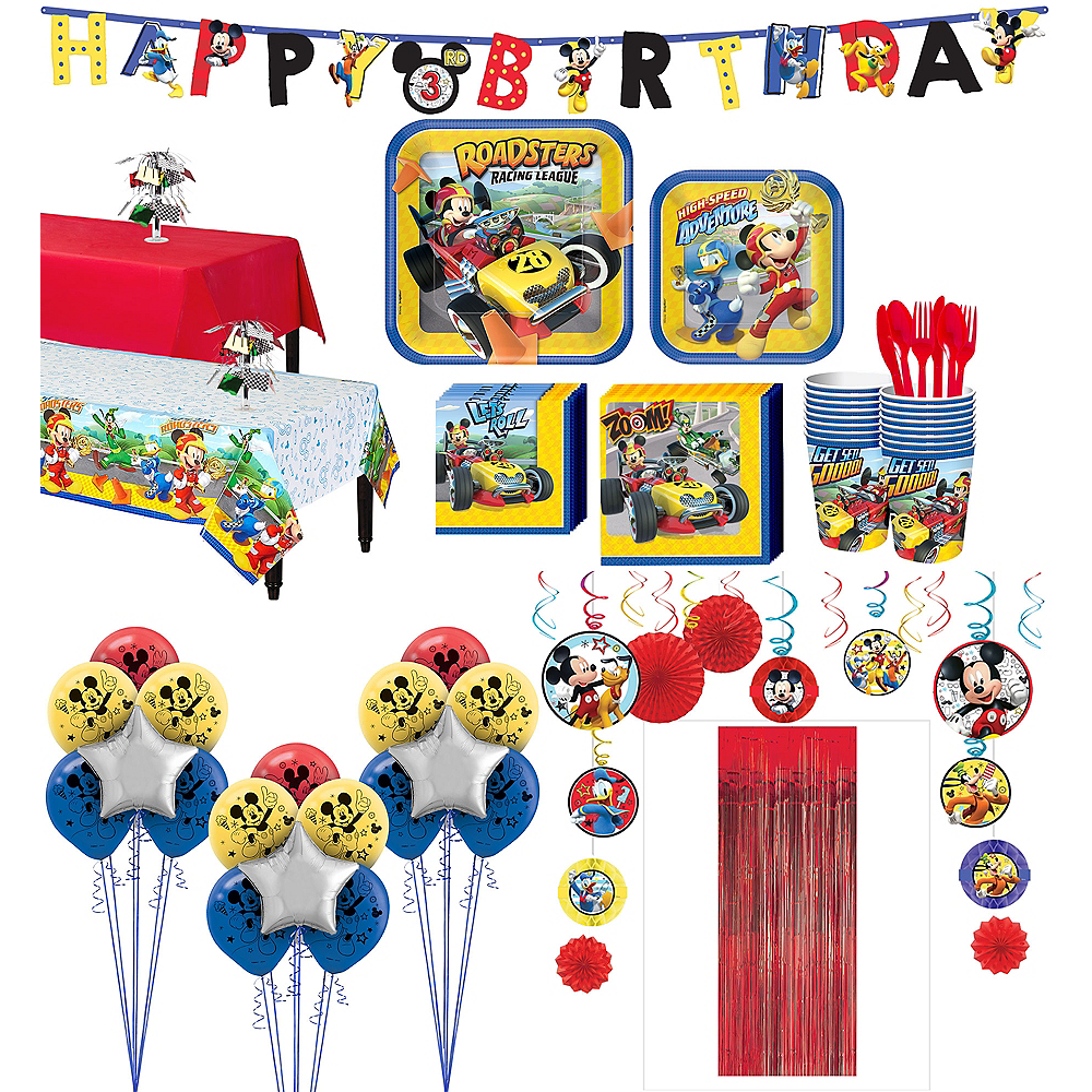 Mickey Mouse Roadster Tableware Ultimate Kit for 16 Guests Image #1
