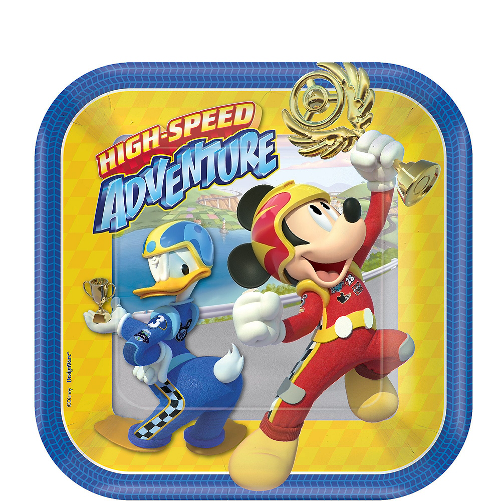 Mickey Mouse Roadster Tableware Ultimate Kit for 16 Guests Image #2