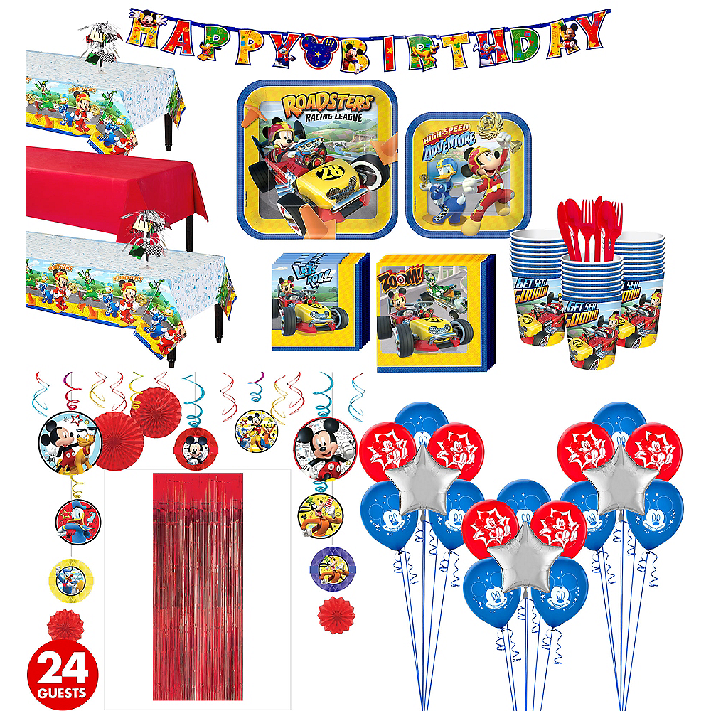 Mickey Mouse Roadster Tableware Ultimate Kit for 24 Guests Image #1