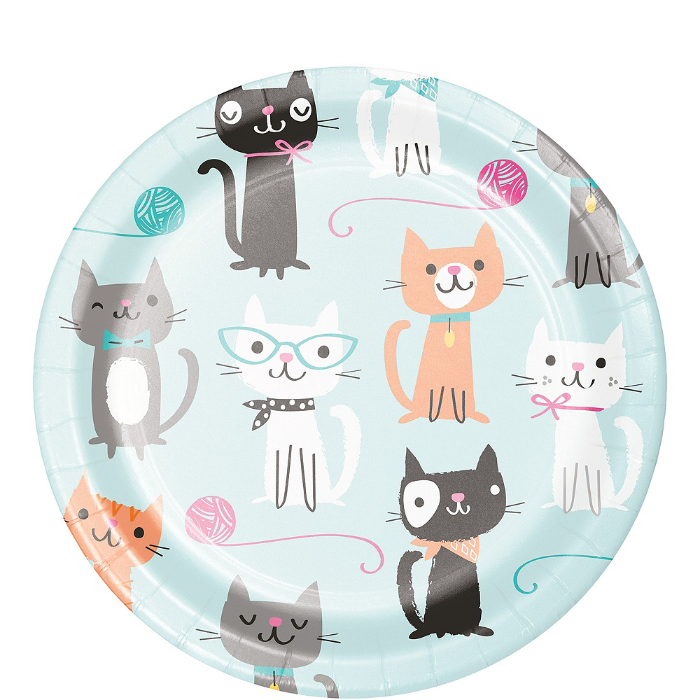 Purrfect Cat Tableware Party Kit for 16 Guests Image #2