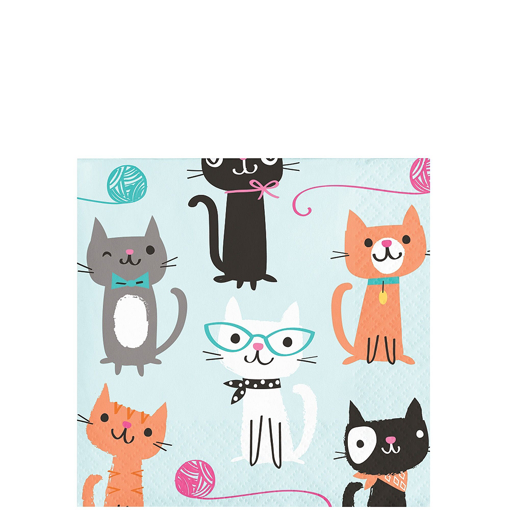 Purrfect Cat Tableware Party Kit for 16 Guests Image #4