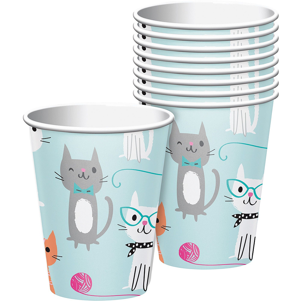 Purrfect Cat Tableware Party Kit for 16 Guests Image #6