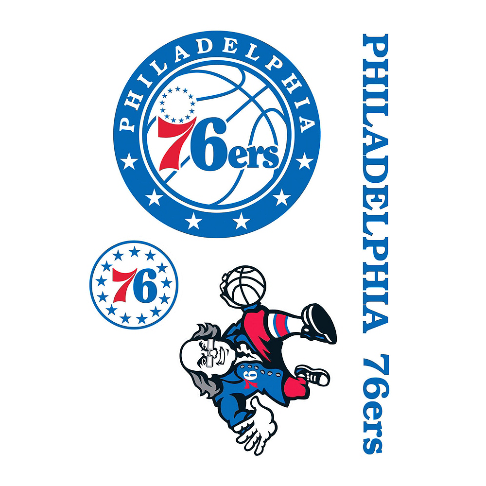 Philadelphia 76ers Decals 4ct Image #1