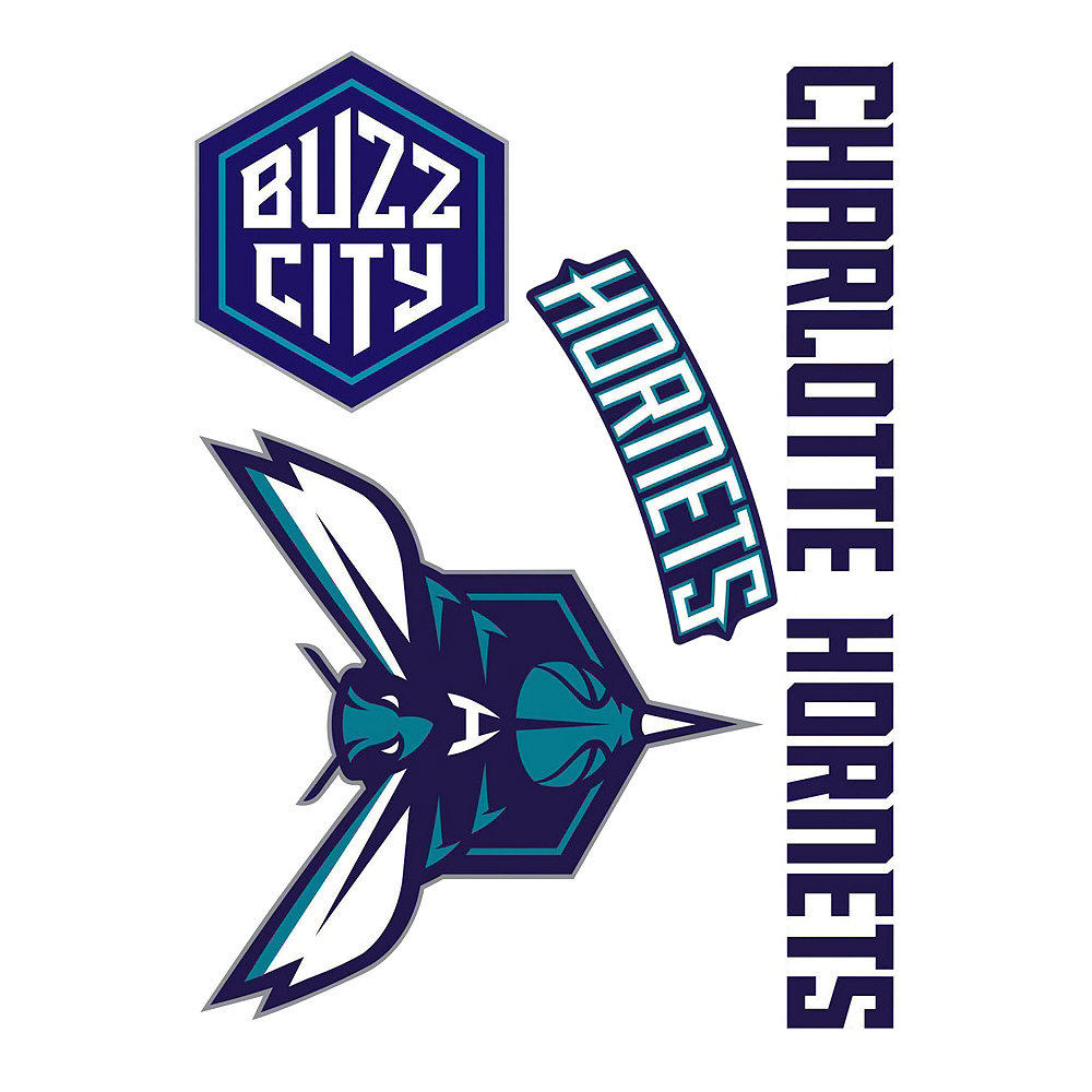 Charlotte Hornets Decals 4ct Image #1