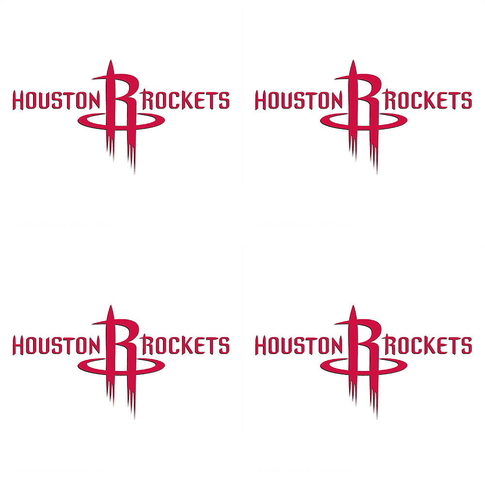 Houston Rockets Face Tattoos 4ct Image #1