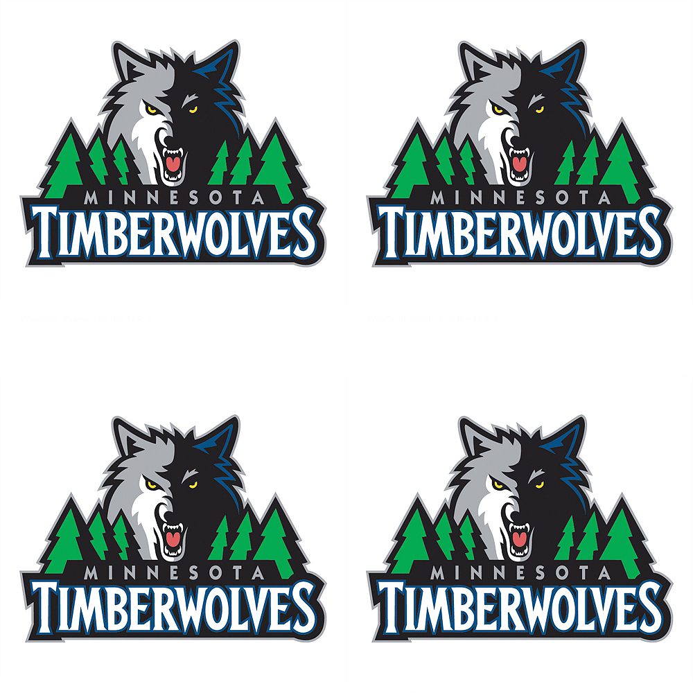 Minnesota Timberwolves Face Tattoos 4ct Party City Canada