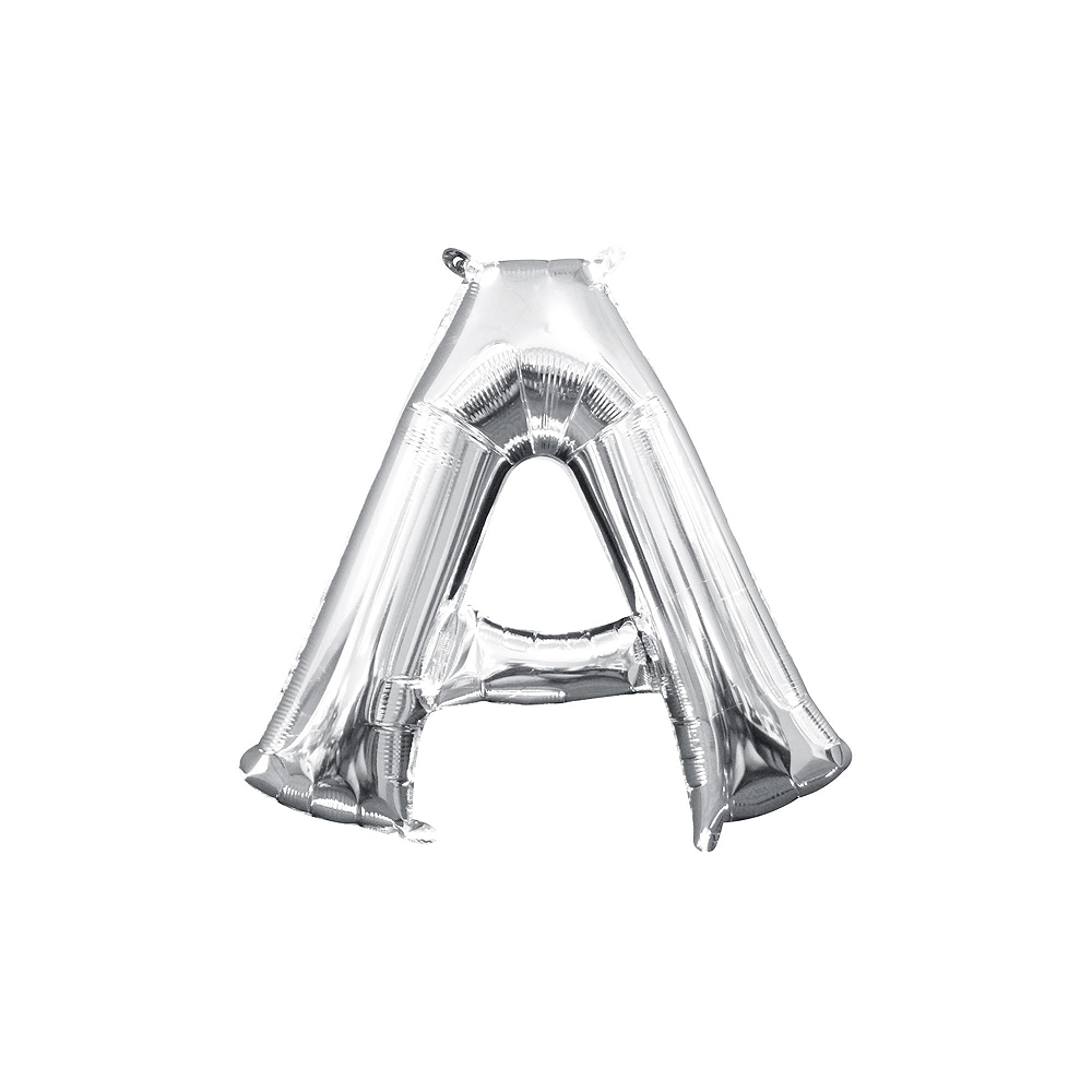13in Air-Filled Silver Candy Letter Balloon Kit Image #3