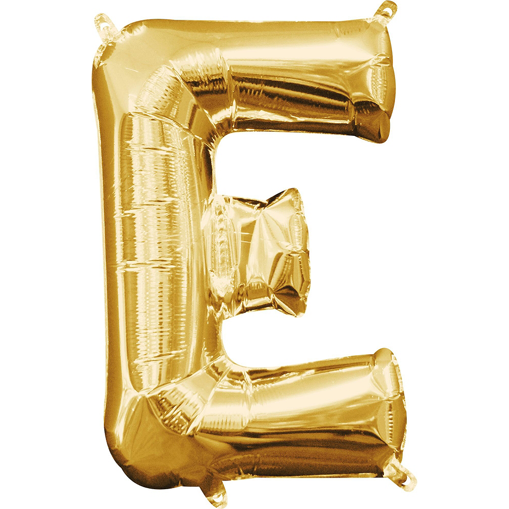 13in Air-Filled Gold Eek Letter Balloon Kit Image #3
