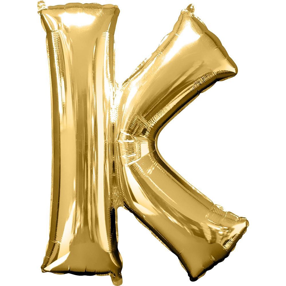Giant Gold Eek Letter Balloon Kit Image #5