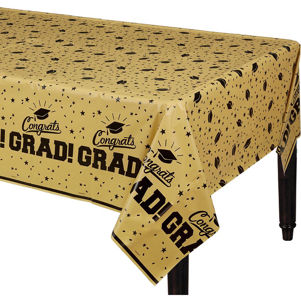 Gold Congrats Grad Table Cover Image #1