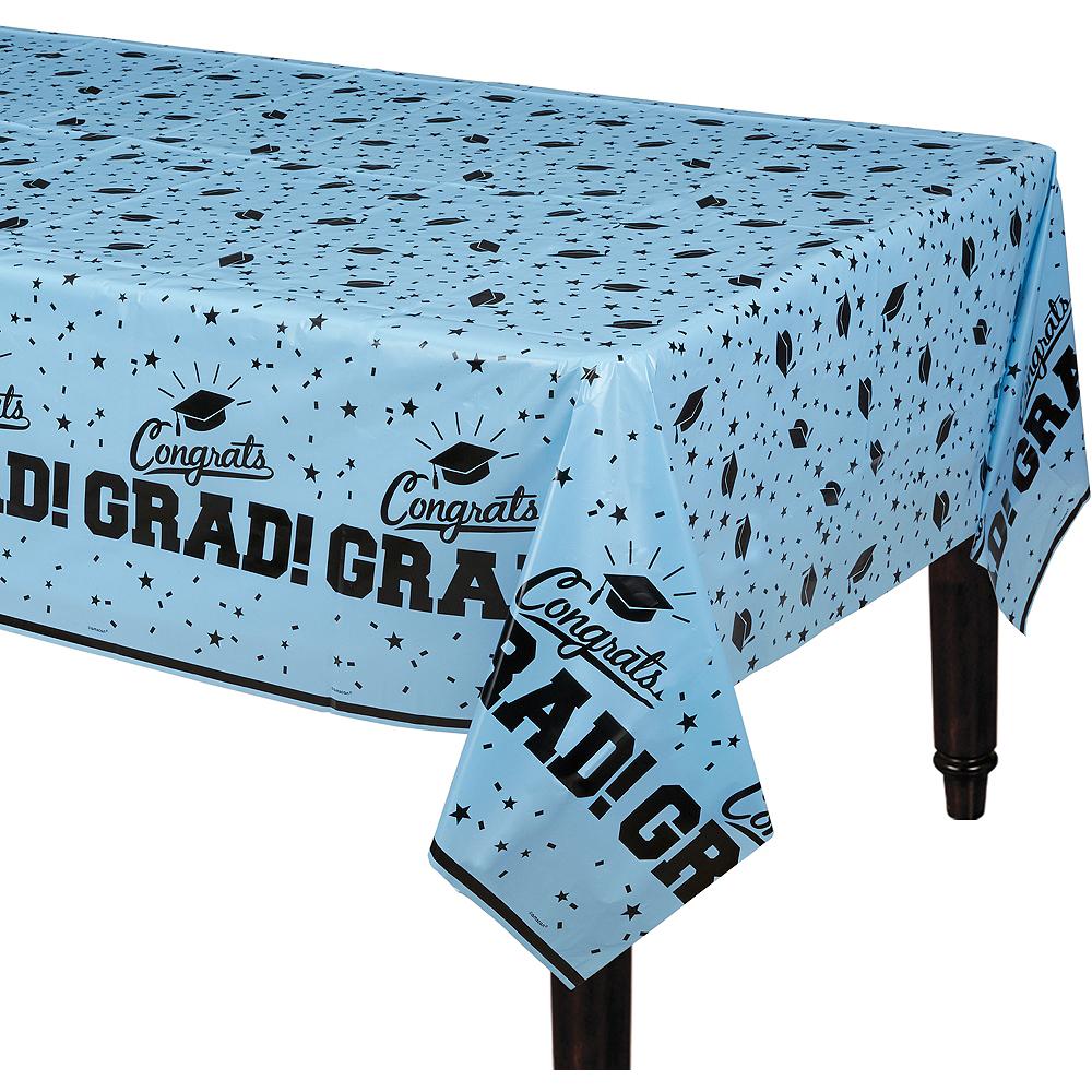 Pastel Blue Congrats Grad Table Cover Image #1