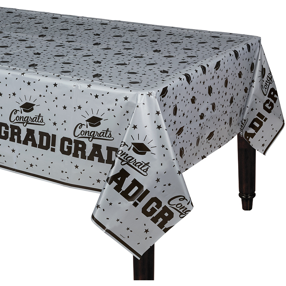 Nav Item for Silver Congrats Grad Table Cover Image #1